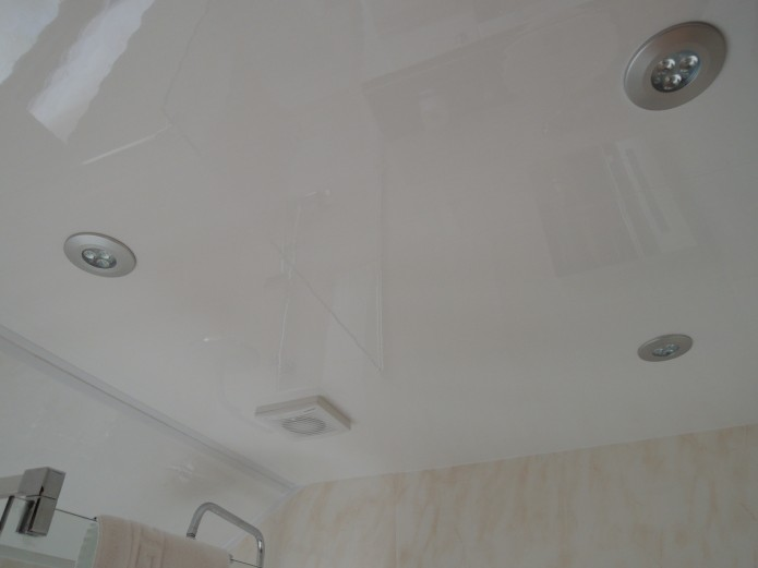 IPSL's ceiling panels in a domestic bathroom.