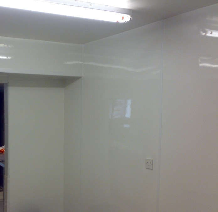 Proclad wall cladding in a commercial kitchen