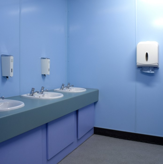 Proclad wall cladding in a school bathroom