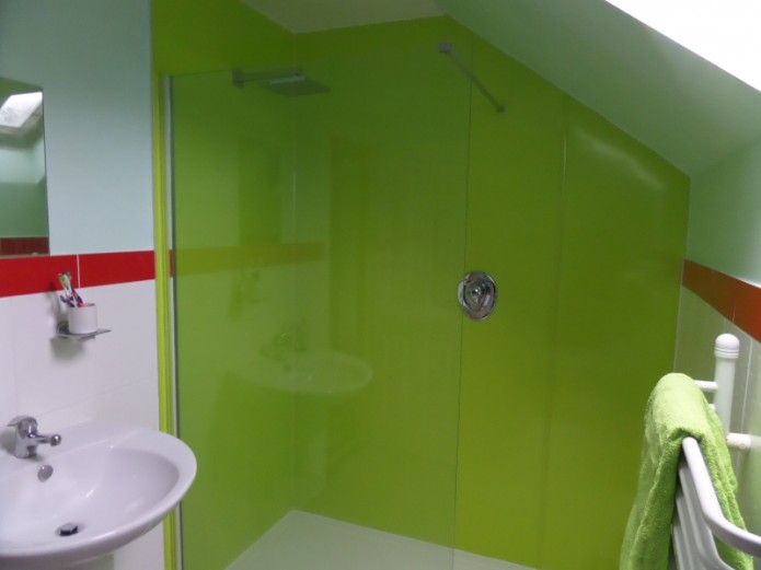 Proclad Lime panels in a shower room