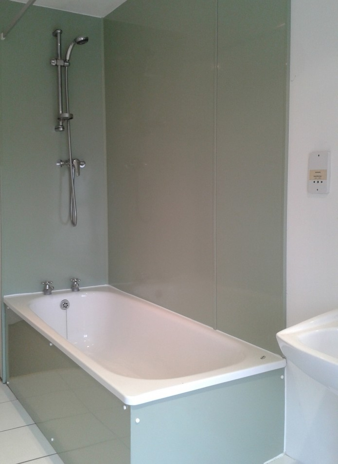 Proclad panels used in a domestic bathroom.