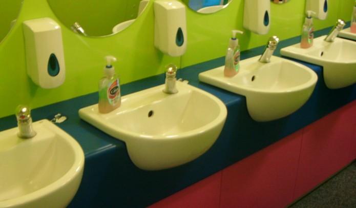 school toilet cladding