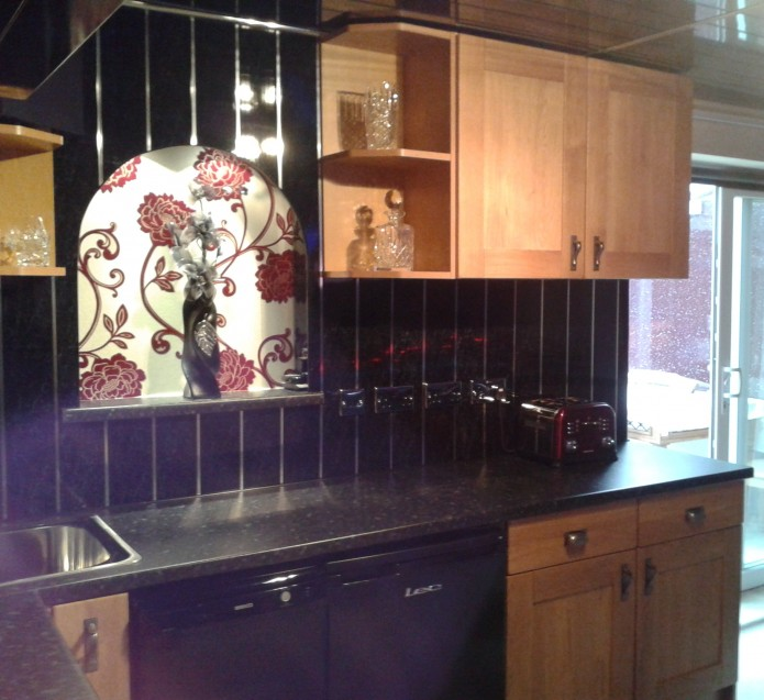 IPSL's Aquaclad panels used on the walls of a domestic kitchen.